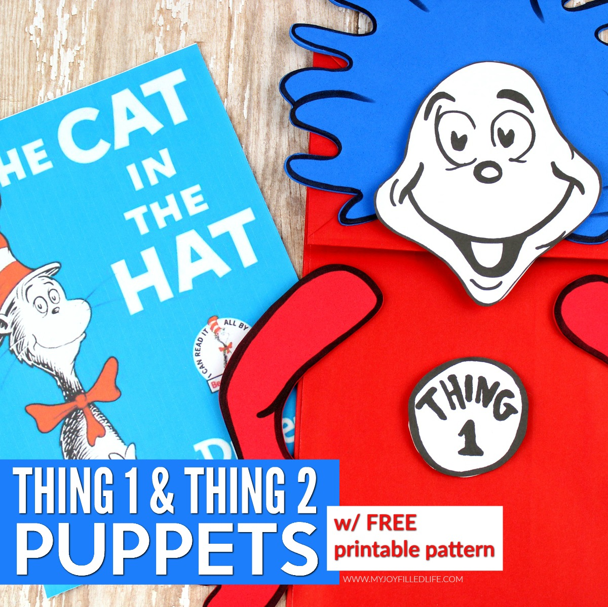 Thing 1 & Thing 2 Puppets